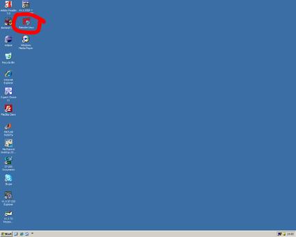 Αρχικά εισέρχεστε στο περιβάλλον Windows. Κάνετε διπλό κλικ στο εικονίδιο για τη σύνδεση στο περιβάλλον Linux
