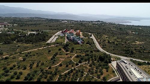 H Πολυτεχνειούπολη στο Ακρωτήρι Χανίων από ψηλά, Technical University of Crete